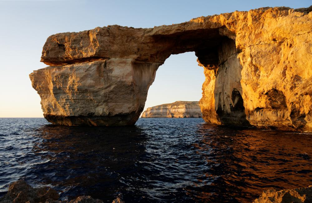 The Azure Window is a sea arch located in Malta.