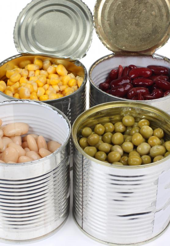 Canned good are a valuable item to donate in times of a natural disaster.