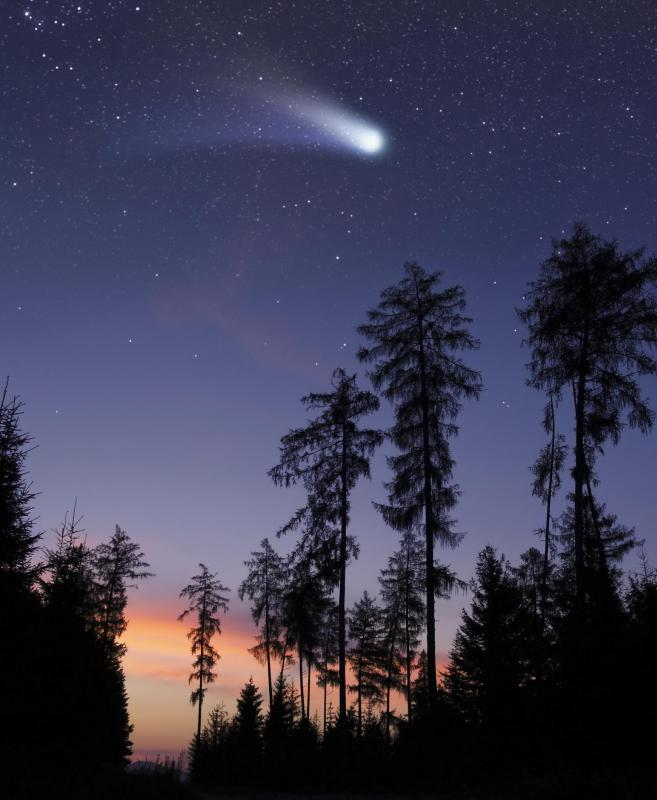 A shooting star is actually not a star, but a meteor.