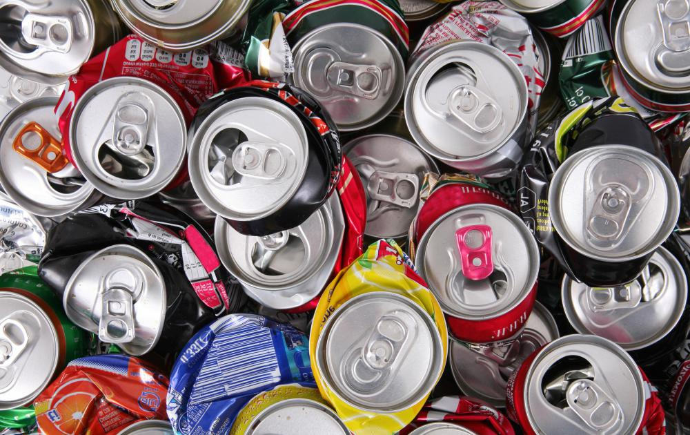 Aluminum soda cans are frequently recycled.