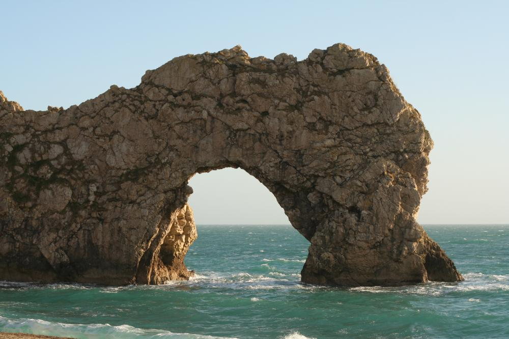 The Durdle Door is one of the sea arches of southern England.