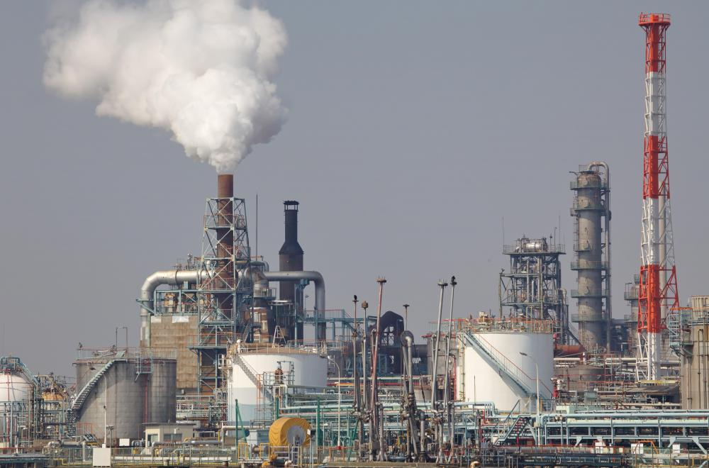 Factories produce large amounts of air pollution.