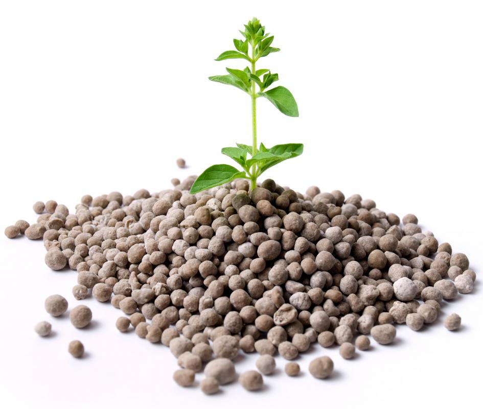 Fertilizers are used to adjust the pH and nutrient content of topsoil.