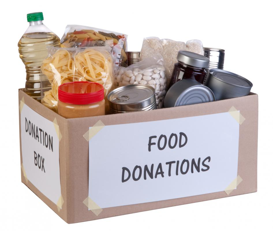Food donations to help in a natural disaster need to be sent to the right location.