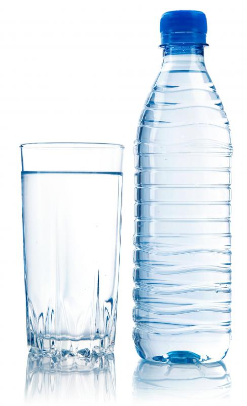Plastic water bottles can usually be recycled.