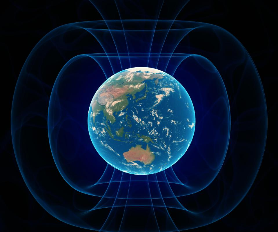The Earth's magnetosphere is the area of influence of its magnetic field.
