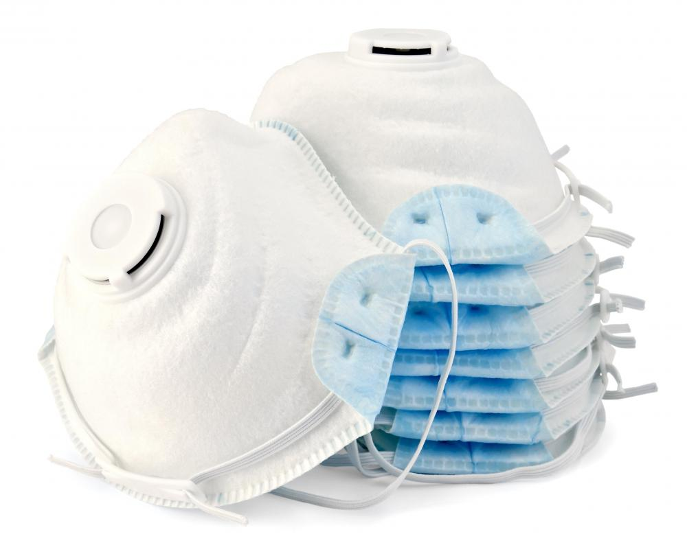 Respirator masks can prevent people from inhaling silica particles that cause health issues.
