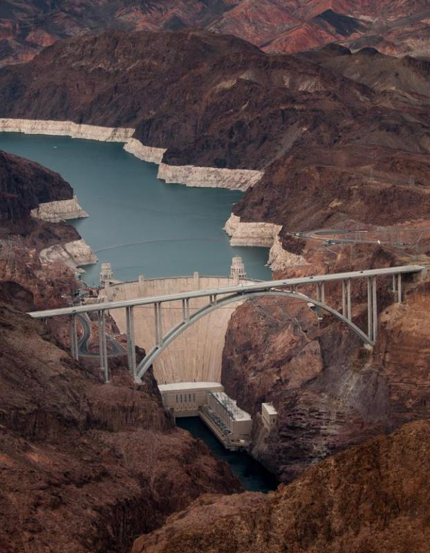 Hydroelectric power stations, such as the Hoover Dam, are sources of renewable energy.