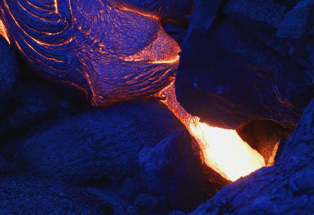 Composite volcanoes release lava and rock when they erupt.