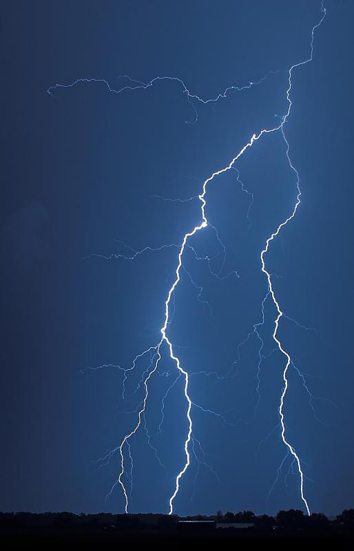Thunder is the sound of the air expanding around a lightning bolt.