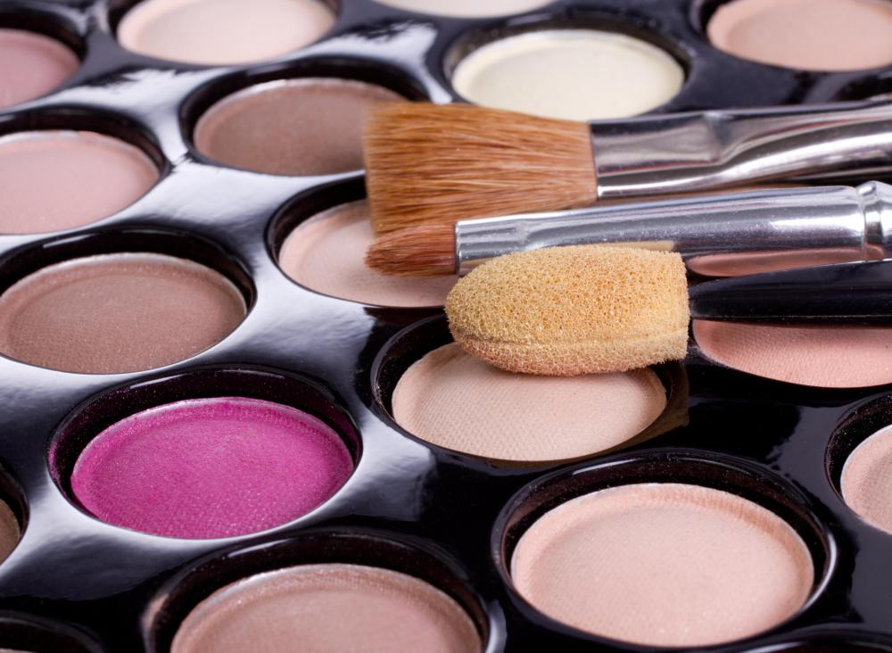Iron oxide can be found in eye shadow.
