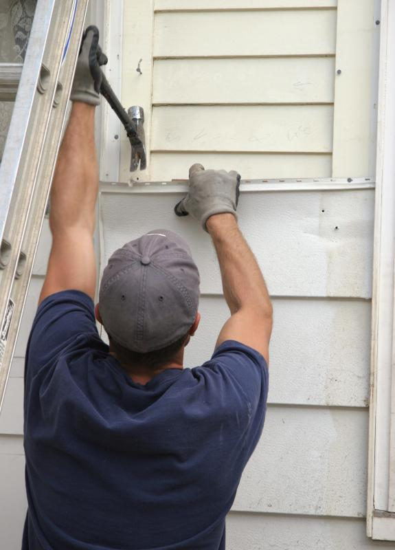 Aluminum, like that used in aluminum siding, can be melted down and recycled.