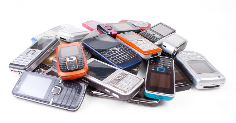 Cell phones contain toxins which can leach out into soil.
