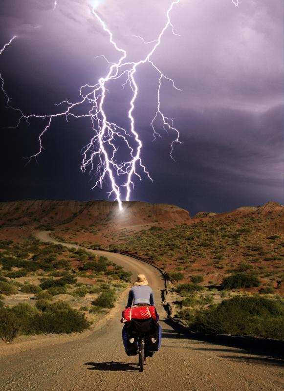 Air rapidly expands around a lightning bolt's path, creating an acoustic shock wave that is heard as thunder.