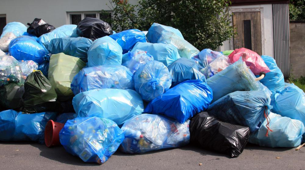 Minimizing the build-up of trash is important to maintain a healthy environment.