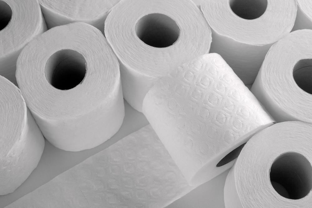 Items such as toilet paper can be made from recycled materials instead of using more materials from nature.